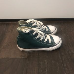 Great Condition Toddler Converse Size 10 Teal